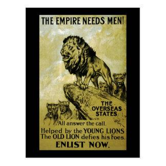 El imperio necesita a hombres tarjeta postal