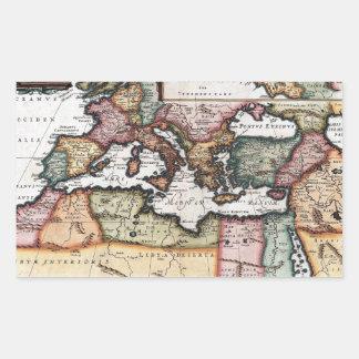 El imperio romano pegatina rectangular