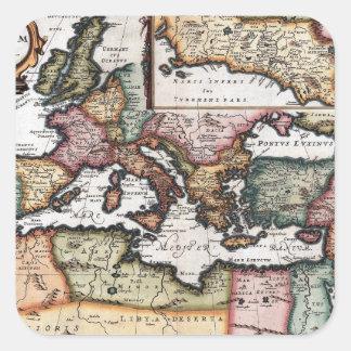 El imperio romano pegatina cuadrada