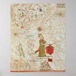 El imperio turco, de un atlas náutico, 1646 póster
