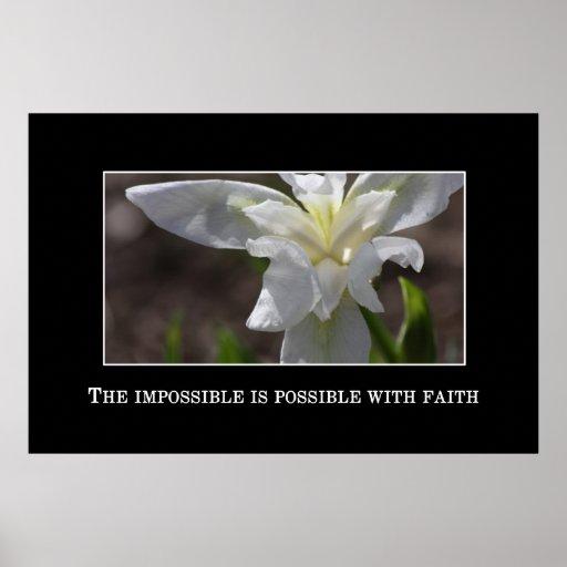 El imposible es posible con la fe poster