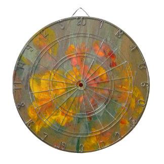 El impresionista florece los oros y los naranjas tabla dardos