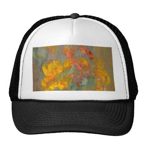 El impresionista florece los oros y los naranjas gorra