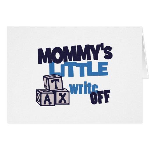 El impuesto de la mamá amortiza tarjeta de felicitación