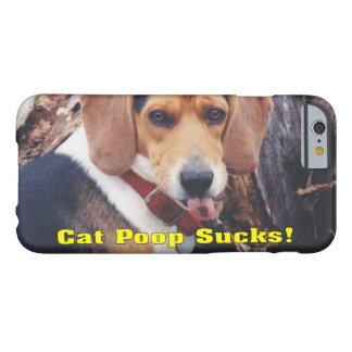 El impulso divertido del gato chupa el perro que funda para iPhone 6 barely there