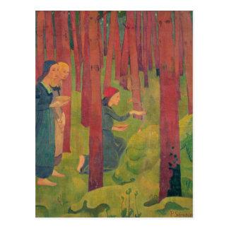 El Incantation o la madera santa 1891 Postal