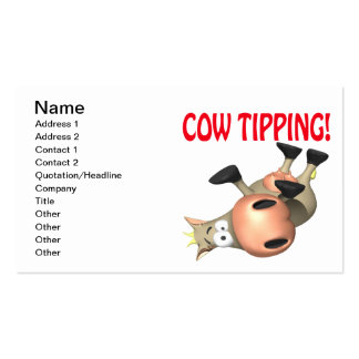 El inclinar de la vaca tarjetas de visita