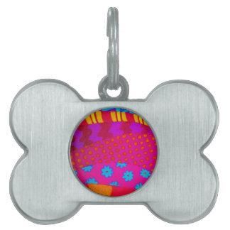 El INCONFORMISTA - arte abstracto vibrante colorid Placa Mascota