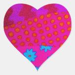 El INCONFORMISTA - arte abstracto vibrante Pegatina Corazón Personalizadas
