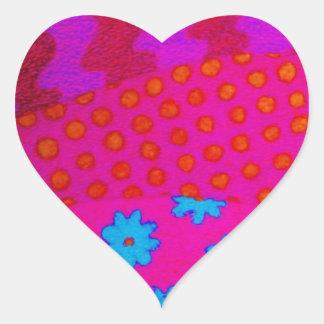 El INCONFORMISTA - arte abstracto vibrante Pegatina En Forma De Corazón