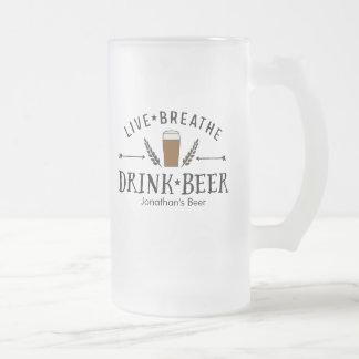 El inconformista del amante de la cerveza vivo taza de cristal