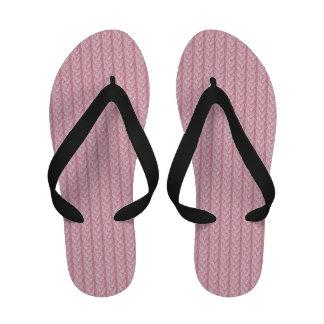 El inconformista rosado femenino de las lanas que sandalias de playa