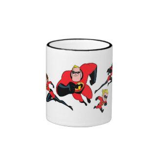 El Incredibles que vuela Disney Taza De Dos Colores