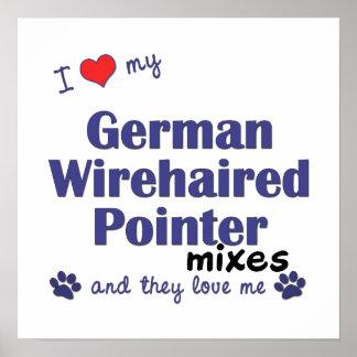 El indicador Wirehaired alemán del amor mezcla el