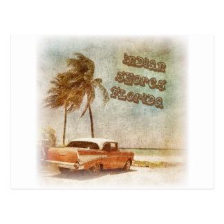El indio del vintage apuntala escena de la playa postal