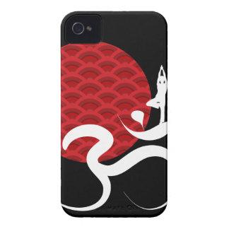 El indio espiritual de la yoga roja de Sun Meditat iPhone 4 Carcasas