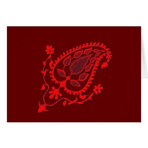 El indio rojo brillante inspiró el Ornamental Tarjetón
