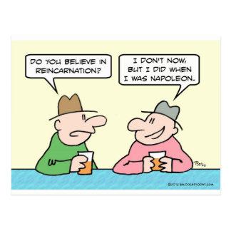 El individuo cree en la reencarnación cuando él tarjeta postal