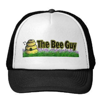 el individuo de la abeja gorro de camionero