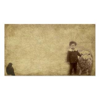 El individuo de Lil y sus ovejas Prim tarjetas de  Plantillas De Tarjetas De Visita