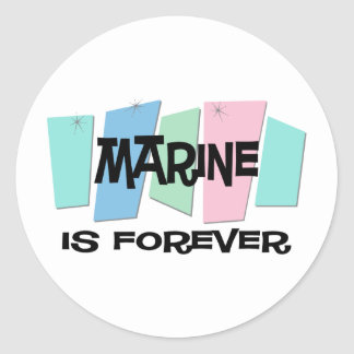 El infante de marina es Forever Pegatina Redonda