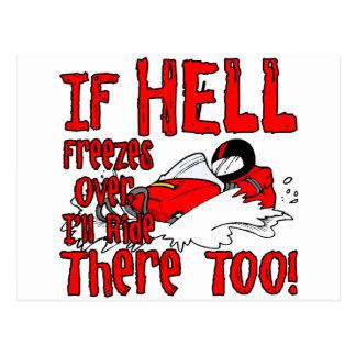 El infierno congela encima postales