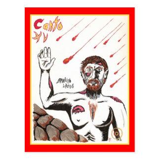 El infierno de Dante, postal del Canto XV