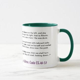 El infierno de Dante, taza del Canto IX