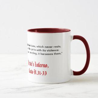 El infierno de Dante, taza del Canto V