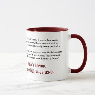 El infierno de Dante, taza del Canto XVIII