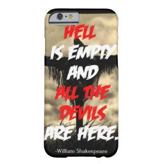 El infierno es caso vacío del iPhone 6 Funda De iPhone 6 Barely There