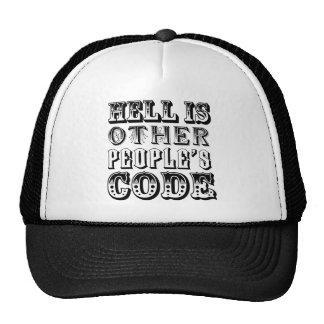 El infierno es el código de la otra gente gorros bordados