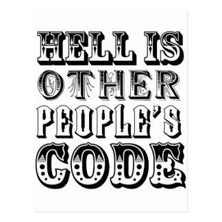 El infierno es el código de la otra gente postales