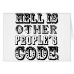 El infierno es el código de la otra gente felicitaciones