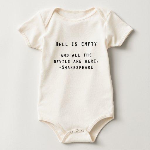 El infierno es la cita vacía 3 de Shakespeare Mamelucos De Bebé