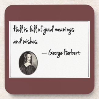 El infierno es lleno de buenas intenciones…. posavasos de bebidas