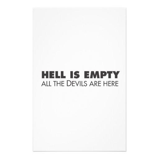 El infierno está vacío  papeleria