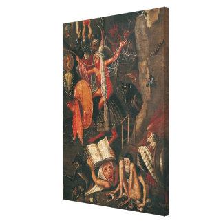 El infierno lienzo envuelto para galerias