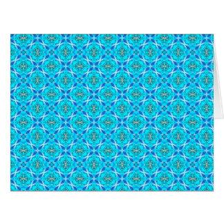 El infinito de los azules claros firma las flores tarjeta de felicitación grande