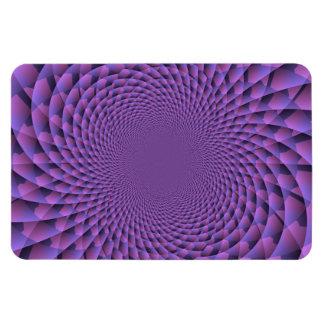 El infinito es púrpura imán foto rectangular