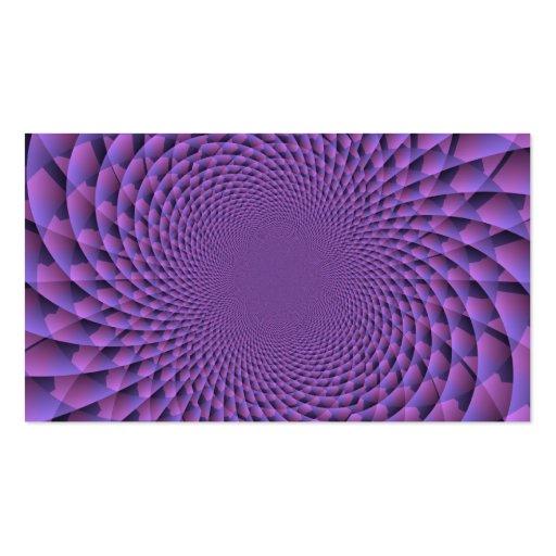 El infinito es púrpura tarjeta personal