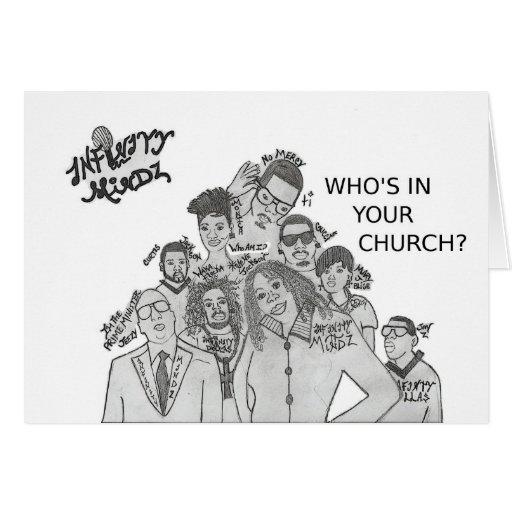 """¿El infinito Mindz """"quién está en su iglesia? """" Tarjeta De Felicitación"""