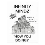 """¿El infinito Mindz """"quién está en su iglesia? """" Tarjeta Postal"""