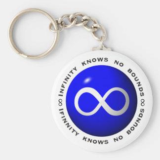 El infinito no sabe ningún límite llavero personalizado