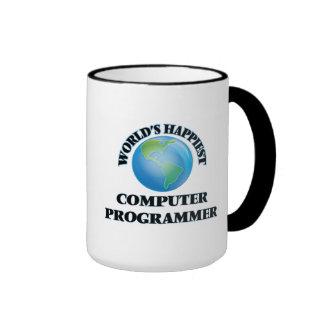 El informático más feliz del mundo taza a dos colores