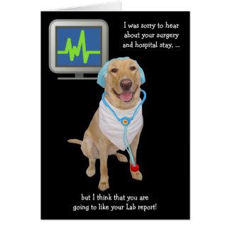 El informe adaptable divertido del laboratorio tarjeta de felicitación