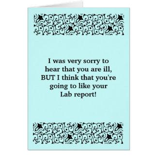 El informe del laboratorio consigue la tarjeta bie