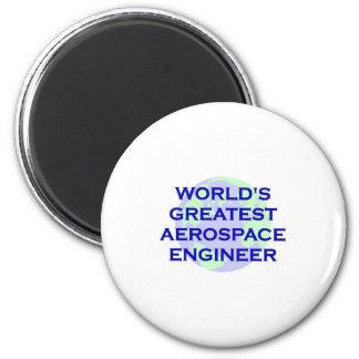 El ingeniero aeroespacial más grande del mundo imán redondo 5 cm