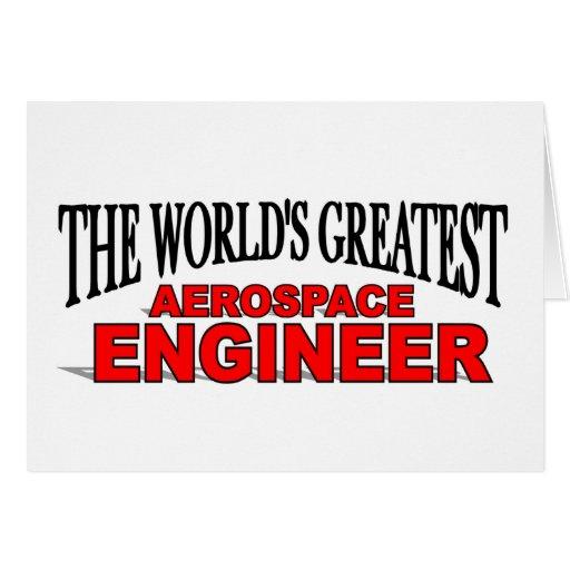 El ingeniero aeroespacial más grande del mundo tarjetas