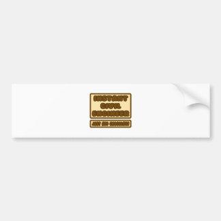 El ingeniero civil… apenas añade el chocolate pegatina para auto